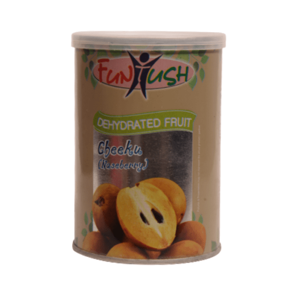 Dehydrated Chikoo Fruit Slices in Tin Box