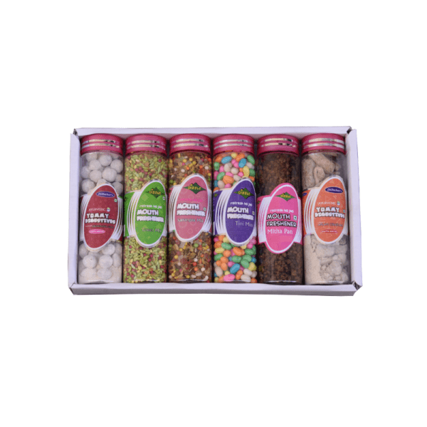Dilbahars Gift Pack of Yummy Digestives Churans & Mouth Freshener Small Bottles