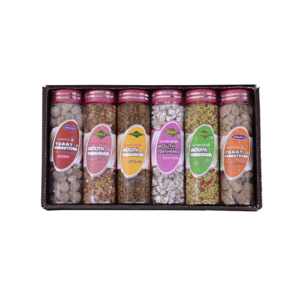 Dilbahars Gift Pack Special of Small Bottles Yummy Digestive Churans & Mukhwas