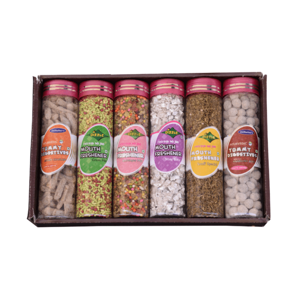 Dilbahars Gift Pack Special of Yummy Digestives & Mouth Fresheners Open